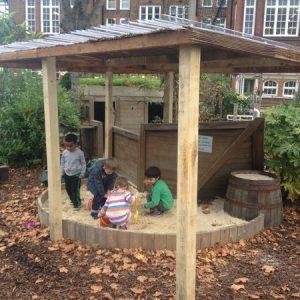 Heathbrook Primary outdoor sandpit