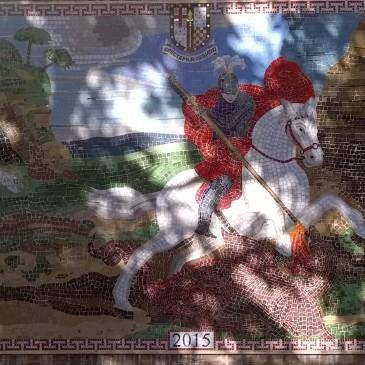 New mosaic for Cato Road Pocket Park, Clapham
